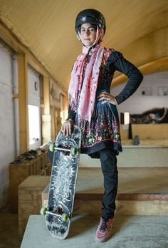 Photos: Forbidden from riding bikes, fearless Afghan girls are skateboarding…