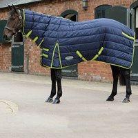 81 Shires Tempest Plus 200G 1200D Horse Stable Rug in Navy//Red Check 69 Navy//Red Check