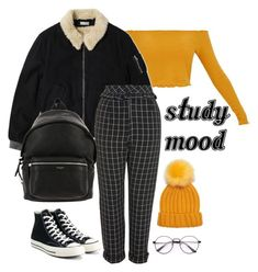 Untitled #2 by mariana-teixeira-iii on Polyvore featuring polyvore, fashion, style, Gosha Rubchinskiy, Topshop, Converse, Yves Saint Laurent, Forever 21, clothing, StreetStyle, Fall and autumn