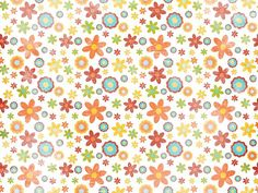 Scrapbook Art Paper Patterns :  Summer Fun  - Colorful Flowers Paper Art Background  5