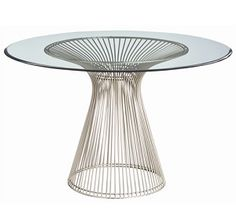 Buy the Arteriors 6556 Brushed Nickel Direct. Shop for the Arteriors 6556 Brushed Nickel Nova 47 Inch Diameter Glass Top Iron Accent Table and save. Bauhaus, Round Entry Table, End Tables For Sale, Beveled Glass, Dining Furniture, Urban Furniture, Furniture Ideas, Furniture Design, Outdoor Furniture