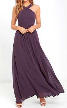 Air of romance dusty purple maxi dress Filled lined polyester Dresses Maxi Best Maxi Dresses, Short Beach Dresses, Lovely Dresses, Affordable Bridesmaid Dresses, Bridesmaid Dresses Online, Wedding Dresses, Purple Maxi, Dusty Purple, Lulu Fashion