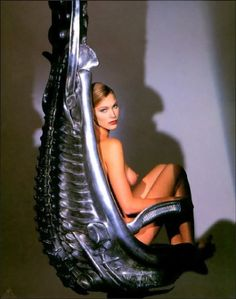 """H.R Giger chair """"Harkonnen Chair"""" Why does no one have this labeled properly?~ Jammer"""