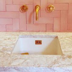 Bathroom Luxury Marble Interior Design New Ideas Marble Interior, Bathroom Interior, Brass Bathroom, Bathrooms Decor, Ikea Bathroom, Bathroom Plants, Room Tiles, Kitchen Tiles, Kitchen Decor