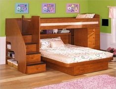 Ideas for triple bunk beds with slide #Bedroom #BunkBeds #HomeDecor #HomeDesign #Child