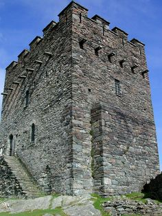 My favorite Welsh castle! Dolwyddelan Castle near the village of Dolwyddelan, Conwy, north Wales - the traditional birthplace of Llywelyn ap Iorwerth Welsh Castles, Castles In Wales, Castle Ruins, Medieval Castle, Palaces, Wales Uk, North Wales, Famous Castles, Snowdonia