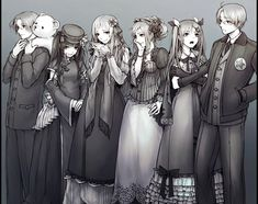 I can imagine them being vampires about to go to a ball or something~ Aph Canada, Fem!China, Fem!Russia, Fem!France, Fem!England and America!