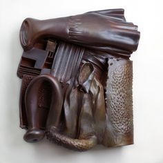 "Artist: Syd Carpenter ""Flora and James Paige"" ceramic, 26x26in"