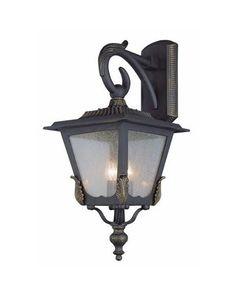 Trans Globe Lighting 5322 BG Three Light Outdoor Wall Lantern in Black Gold Finish