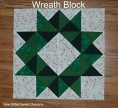 Christmas Wreath Quilt Block Tutorial - Sew BitterSweet Designs