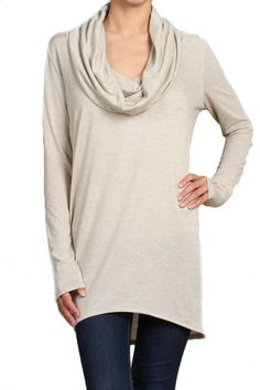 Willow Convertible Long Sleeve Tunic - Oatmeal