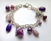 Bracelet perlé violet