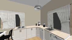 Kenyeres Petra - Kitchen - by Slimline Dishwasher, Drum Pendant, Petra, Wall Sticker, Kitchen Design, Wood, Interior, Design Of Kitchen, Woodwind Instrument