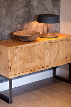 'Pippy Joe', angle iron frame with Pippy Oak top. #sideboard #wood #industrialdesign