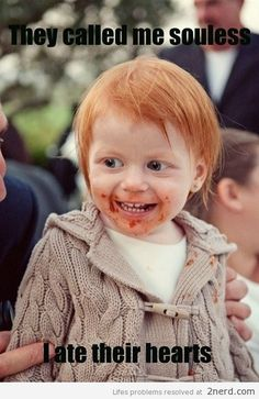 hahaha this was me when I was little...and still today. I love being a ginger :D