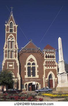 church, Augusta, GA, Georgia, St. James Methodist Church in Augusta in the…