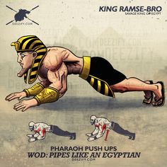 Pipes Like An Egyptian - Pharaoh Push Ups ... #core #abs #triceps #eygptian #pharoah