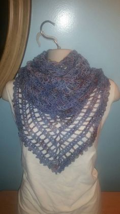 Check out this item in my Etsy shop https://www.etsy.com/listing/480096561/baby-blue-speckled-shawl