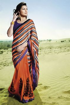 Designer Party Wear Heavy Embroidery  Sarees Online