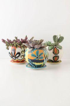 Chimayo Pot , Handpainted