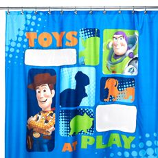 Disney Pixar Toy Story Shower Curtain - Your little one will love this. #BedBathAndBeyond