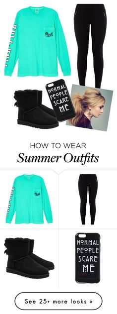 """""""Comfy school outfit"""" by ronnieradkeisbabe on Polyvore featuring Victoria's Secret and UGG Australia"""