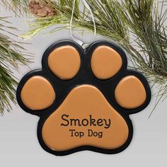 Give your pet a special place on your tree with Engraved Paw Print Personalized Pet Ornaments. We will custom engrave these personalized pet ornaments with your pets name and year. Dog Christmas Ornaments, Christmas Dog, Engraved Gifts, Personalized Gifts, Crop Tool, Word Art Design, Pet Names, Text Color, Custom Engraving