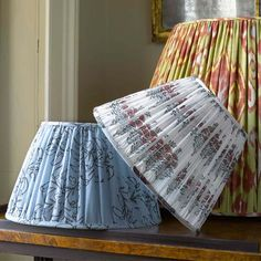 Every magazine these days has at least one project with gorgeous custom lamp shades. I found 2 amazing Etsy sources that can give you that bespoke look.