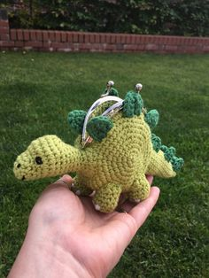 crochet dinosaur patterns ***PLEASE NOTE - this listing is for a crochet pattern and not the finished item!***This pattern is 10 pages long and contains loads of photos to gui Cute Crochet, Crochet Crafts, Crochet Projects, Knit Crochet, Crotchet, Crochet Coin Purse, Crochet Purses, Knitting Patterns, Crochet Patterns