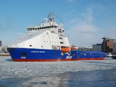 Finland: Offshore Vessel 'Aleksey Chirikov' Starts Sea Trials  Aleksey Chirikov is the second vessel of the series and will be delivered in April 2013. Is the Second Offshore Ice-Breaking Supply vessels for Russia's largest shipping group Sovcomflot (SCF Group).