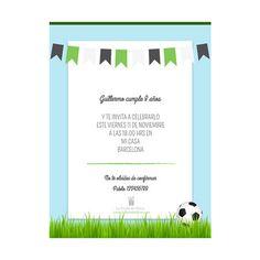 La Fiesta de Olivia | Invitación online personalizada Futbol | Decoración de fiestas infantiles, bodas y eventos