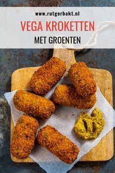 Het recept voor deze heerlijke groente kroketten komt uit het nieuwe boek van Joke Boon: De vega optie. Geniet van dit recept voor heerlijke vegetarische groente kroketten! #RutgerBakt #Bakken #GroenteKroketten Vegan Foods, Vegan Vegetarian, Vegan Recipes, Good Food, Yummy Food, Vegas, Vegan Cake, Vegan Lifestyle, Party Snacks