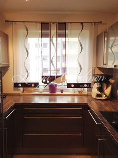 Küchengardinen Bei Ihrem Gardinenspezialisten Bestellen ✓ Wir Nähen  Küchengardinen Nach Maß ✂ Modernes Gardinen Design Ist