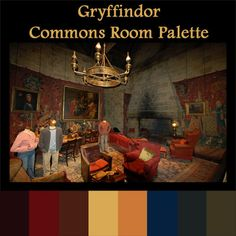 Gryffindor Commons Room Palette
