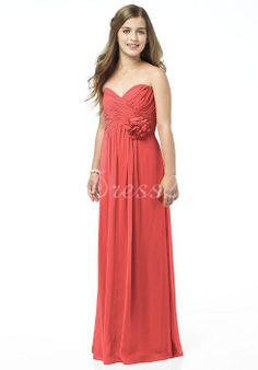 Empire Elegant Chiffon Long A-line Junior Bridesmaid Dress