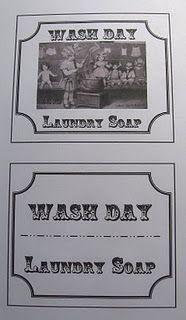 Laundry Soap Labels