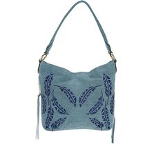 Put a little boho in your hobo--with this Aimee Kestenberg pebble leather embroidered hobo bag. Satchel, Crossbody Bag, Hobo Bag, Pebbled Leather, Leather Handbags, Shoulder Bag, Purses, Boho, Qvc