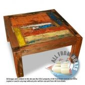 Patchwork Coffee Table from reclaimed boatwood