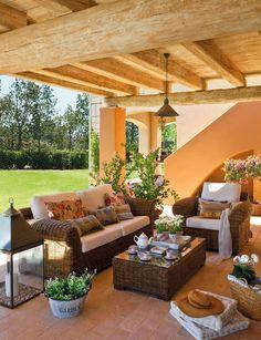 ❤️ Porches ~ Patios ~ Outdoor Rooms ~ Outdoor Living ~ Relax Outside ~ Porch Decor ~ Patio Decor ~ Verandas ~ Porch Decorating! Outdoor Living Rooms, Outside Living, Living Spaces, Terrace Design, Patio Design, Veranda Pergola, Pergola Patio, Cheap Pergola, Pergola Kits