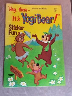 1964 HEY THERE IT s YOGI BEAR! STICKER FUN #2190