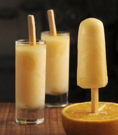 Paletas heladas de yogurt y naranja