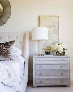 Do you need some more home inspo? Follow us on Pinterest! We're sharing all our current favorite spaces everyday @emilyijackson's master bedroom happens to be one of them – it's a crowd favorite over there too! Use the link in our bio to follow along. Photo by @lindsay_salazar_photography