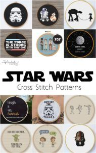 May the 4th | Star Wars Day | Cross Stitch Patterns. on This Splendid Shambles