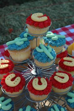 western party cupcakes