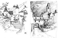 Comment dessiner un paysage exemple de croquis pas a pas patrons dessins et techniques - Dessiner un paysage d hiver ...