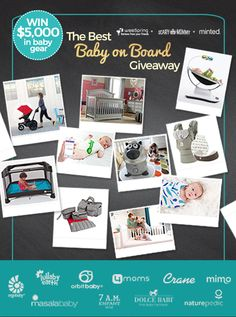 You could win almost $5,000 in baby gear and goodies in weeSpring's The Best Baby on Board Giveaway!