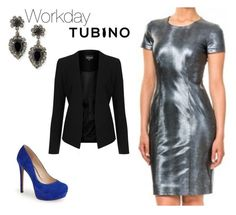 """""""Casual coco metal blue"""" by tubino-skirts-dresses ❤ liked on Polyvore featuring DANNIJO, Jessica Simpson and Topshop"""