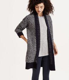 Lou & Grey Floatstitch Cardigan / fall fashion / women's fashion / fall looks / women's clothing / black and white / sweater / #ad