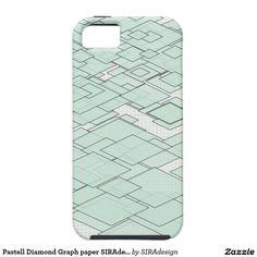 Pastell Diamond Graph paper SIRAdesign Hülle Fürs iPhone 5