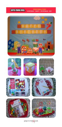 Super Mario Bros. Birthday Party HUGE Package  by PepitosRoom